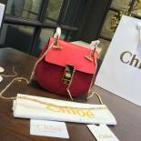 1:1 Chloe Drew Bi-Color Suede Mini Bag With Smooth Calfskin Fall/Winter 2016 Runway Bag Collection, Red