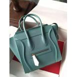 1:1 Quality Celine Micro Luggage Bag Grained Calfskin Fall/Winter 2015 Collection, Egg Blue