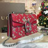1:1 Quality Gucci Dionysus Arabesque Shoulder Small Bag Fall/Winter 2016 Collection, Red/Beige