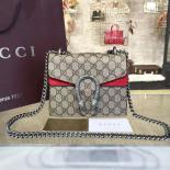 1:1 Quality Gucci Dionysus GG Supreme Mini Coated Canvas And Suede Small Shoulder Fall/Winter 2016 Collection, Red