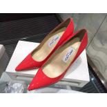 1:1 Replica Jimmy Choo Abel Point-Toe Patent Leather Pumps, Red