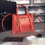 AAA Prada Saffiano Cuir Small Tote Bag Original Leather Spring/Summer 2015 Collection, Red