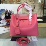 AAA Replica Prada Saffiano Double Handle Tote Bag 33cm Fall/Winter 2016 Bag Collection, Rose Pink