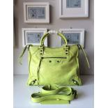 Best Quality Balenciaga Classic Giant Velo Bag Spring Summer 2014 Collection, Lime Green