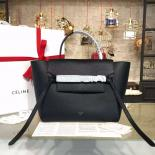 Best Quality Celine Belt Top Handle Mini Bag Grained Calfskin Leather Pre-Fall Winter 2016 Collection, Black
