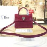 Best Quality Dior Diorever Tote Mini Bag Suede With Calfskin Leather Fall-Winter 2016 Collection, Burgundy