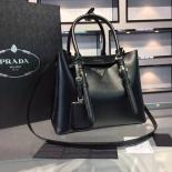 Best Quality Prada Saffiano Cuir Small Tote Bag Original Leather Spring/Summer 2015 Collection, Black