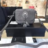 Best Quality YSL Saint Laurent Kim Cross Tassel 20cm Small Bag Calfskin/Suede Leather Fall/Winter 2016 Collection, Grey