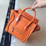 Best Replica On SALE! Celine Nano Luggage Bag Smooth Calfskin Leather Cruise 2015 Collection, Orange