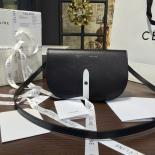 Celine Clutch On Strap Bag Grained Calfskin Pre-Fall Winter 2016 Collection, Black/White