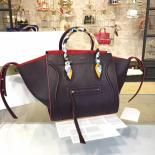 Celine Phantom Tote Bag Calfskin Leather Fall/Winter 2016 Collection, Black With Red