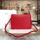 Celine Trio Crossbody Bag Small Grained Leather Pre-Fall Winter 2015 Collection, Red