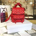 Cheap Dior Stardust Cannage Stitched Small Backpack Lambskin Leather Fall-Winter 2016 Collection, Red