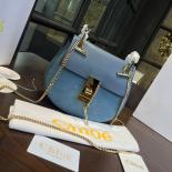 Chloe Drew Bi-Color Suede Mini Bag With Smooth Calfskin Fall/Winter 2016 Runway Bag Collection, Light Blue