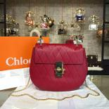 Chloe Drew Shoulder Bag Diamond Shape Leather Pre-Fall 2015 Collection, Red