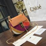 Chloe Drew Small Rainbow Leather And Suede Shoulder Bag Pre-Fall 2016 Bag Collection, Multicolor Red