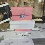 Christian Dior Miss Dior Promenade Pouch Bag Mini 20cm Bag Python Leather Spring/Summer 2016 Collection, Pink