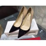 Christian Louboutin So Kate Degraded Ombre Varnish Patent Leather Pump 120mm, Black/Nude