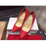 Christian Louboutin Spiked Pigalle Leather Pumps 120mm, Pink
