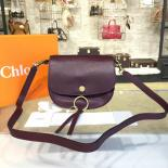 Copy Chloe Kurtis Suede And Calfskin Leather Small Shoulder Bag Pre-Fall 2016 Bag Collection, Burgundy