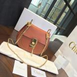 Designer Chloe Drew Perforated Embroidered Mini Bag Smooth Calfskin Fall/Winter 2016 Runway Bag Collection, Tan
