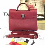Dior Diorever Tote Large Bag Calfskin Leather Bag Fall/Winter 2016 Collection, Burgundy