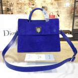 Dior Diorever Tote Large Bag Suede With Calfskin Leather Fall-Winter 2016 Collection, Electric
