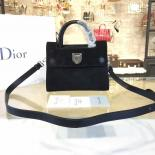 Dior Diorever Tote Mini Bag Suede With Calfskin Leather Fall-Winter 2016 Collection, Black