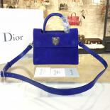Dior Diorever Tote Mini Bag Suede With Calfskin Leather Fall-Winter 2016 Collection, Electric Blue