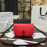 Discount Celine Clutch On Strap Bag Grained Calfskin Pre-Fall Winter 2016 Collection, Red/Black
