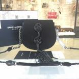 Discount YSL Saint Laurent Opium Tassel Small 20cm Bag Calfskin/Suede Leather Fall/Winter 2016 Collection, Black