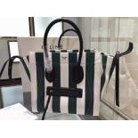 Fake Celine Large Phantom Bag In Textile Pre Fall 2015 Collection, Green/White