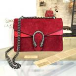 Fake Gucci Dionysus GG Supreme Suede Shoulder Large Bag Fall/Winter 2016 Collection, Red