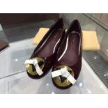 Fake Louis Vuitton Ballerina Shoes Patent Leather 2015 Collection, Burgundy