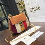 Fake Replica Chloe Drew Small Patchwork Leather And Suede Shoulder Bag Pre-Fall 2016 Bag Collection, Multicolor Purple