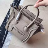 Fake Replica On SALE! Celine Nano Luggage Bag Pebbled Calfskin Leather Cruise 2015 Collection, Light Grey