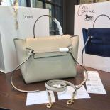Famous Celine Belt Top Handle Mini Bag Grained Calfskin Leather Pre-Fall Winter 2016 Collection, Sand