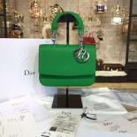 Famous Dior Be Dior Mini Bag Grained Calfskin Leather Fall/Winter 2016 Collection, Bamboo Green