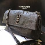 Famous Saint Laurent Medium West Hollywood Bag In Anthracite Crocodile Embossed Leather