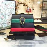 Gucci Dionysus Leather Bamboo Large Top Handle Bag Fall/Winter 2016 Collection, Hibiscus Red/Green/Black