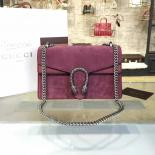Gucci Dionysus Leather-Trimmed Suede Medium Shoulder Bag Fall/Winter 2016 Collection, Pink