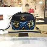 Gucci GG Ghost Alessandro Michele Marmont Matelassé Large Shoulder 27cm Bag Fall/Winter 2016 Collection, Black/White