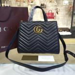 Gucci GG Marmont Matelassé 2.0 Medium Quilted Tote Bag Fall/Winter 2016 Collection, Black