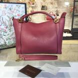 Gucci GG Top Handle Large Leather Hobo Bag Fall/Winter 2016 Runway Collection, Berry