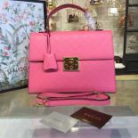 Gucci Padlock Signature Top Handle Leather Bag Fall/Winter 2016 Collection, Pink