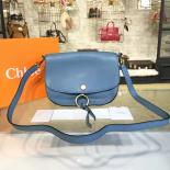 High Quality Chloe Kurtis Suede And Calfskin Leather Large Shoulder Bag Pre-Fall 2016 Bag Collection, Blue