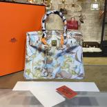 High Quality Replica Customized Hand Painted Hermes Birkin 30cm Togo Calfskin Bag Handstitched Gold Or Palladium Hardware, Tropical Multicolor