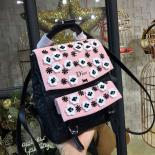 High Quality Replica Dior Floral Embroidered Stardust Medium Backpack Bag Lambskin Leather Fall/Winter 2016 Collection, Black/Pink
