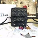 High Quality Replica Dior Stardust Cannage Stitched Small Backpack Lambskin Leather Fall-Winter 2016 Collection, Black