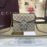 High Quality Replica Gucci Dionysus GG Supreme Mini Coated Canvas And Suede Small Shoulder Fall/Winter 2016 Collection, Beige